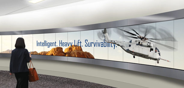 Lockheed Martin video wall native resolution content