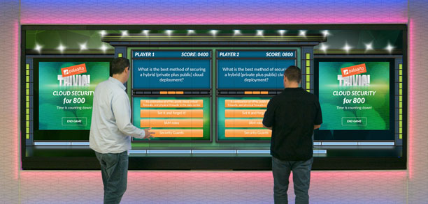 experience center gamification trivia game interactive app