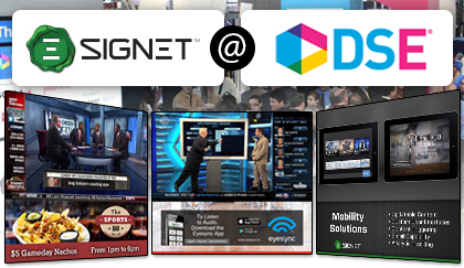 Signet to Feature Eyesync and Award-Winning Solutions at DSE 2015