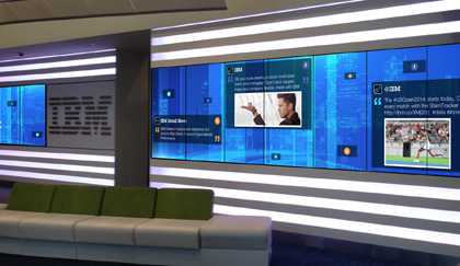 IBM Creates Dynamic Lobby Experience with New Large-Scale Media Wall