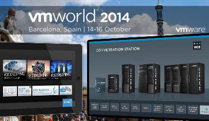 Interactive Event Application Used At Booths During VMworld Barcelona